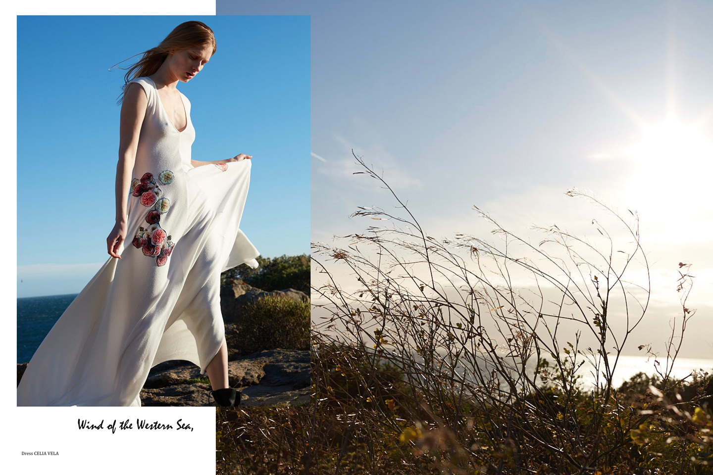 Gone With The Wind Editorial for Vanidad Magazine shot by Photographer Xavier Bergman with model Karolyn Syrek from Mad Models Management with Stylist Lucia Sylva and Makeup & Hairstylist Maryam Blanco