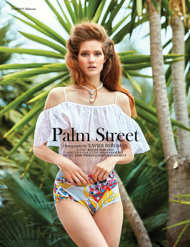 Palm Street Editorial shot by Photographer Xavier Bergman with model Esme Wissels from Sight Management with Stylist Roxane Mercerat and Makeup & Hair stylist Susana Sanchez